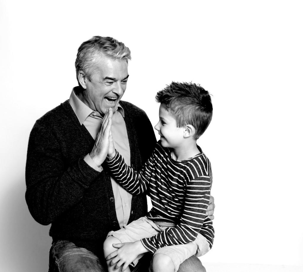 Motiv Opa mit Enkel